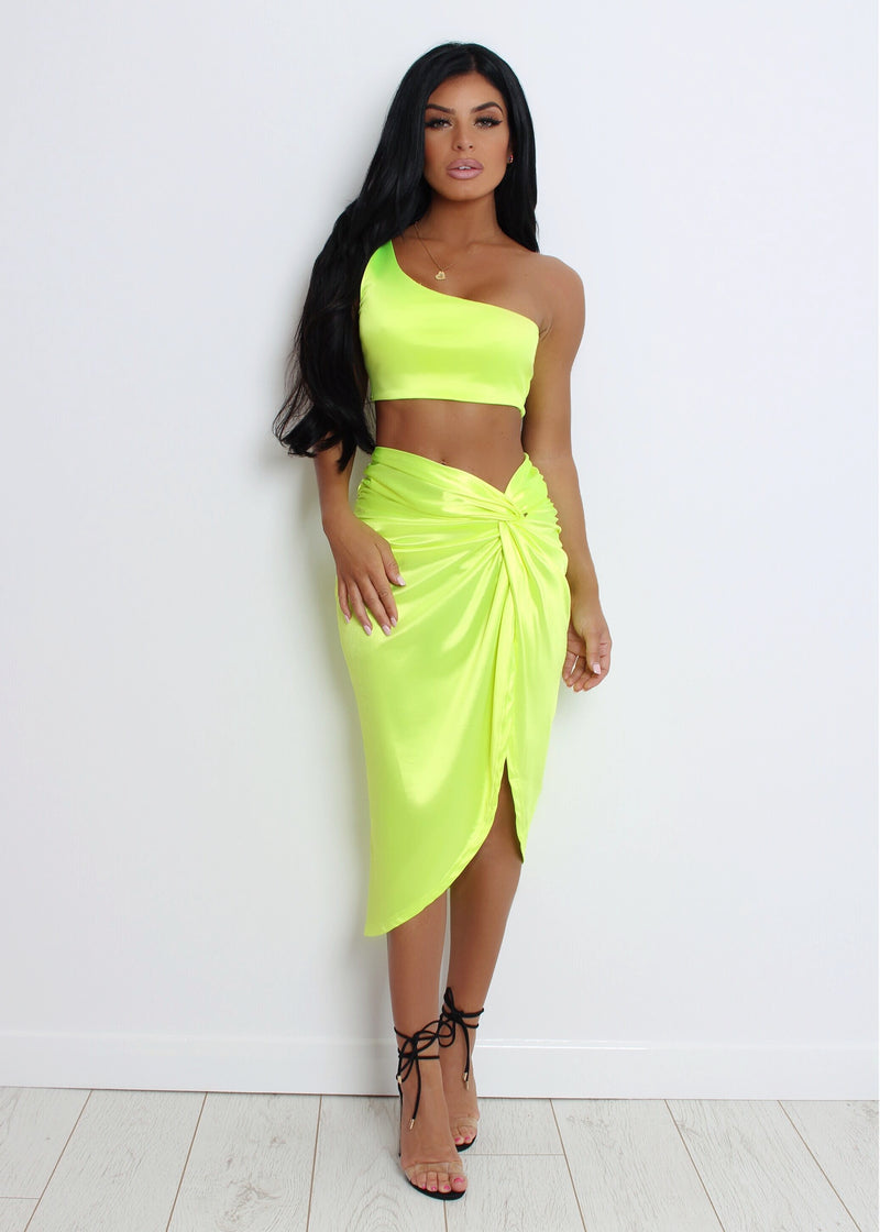 Brighten My Day Two Piece - Neon Yellow