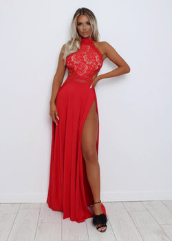 Wild Dreams Lace Gown - Red