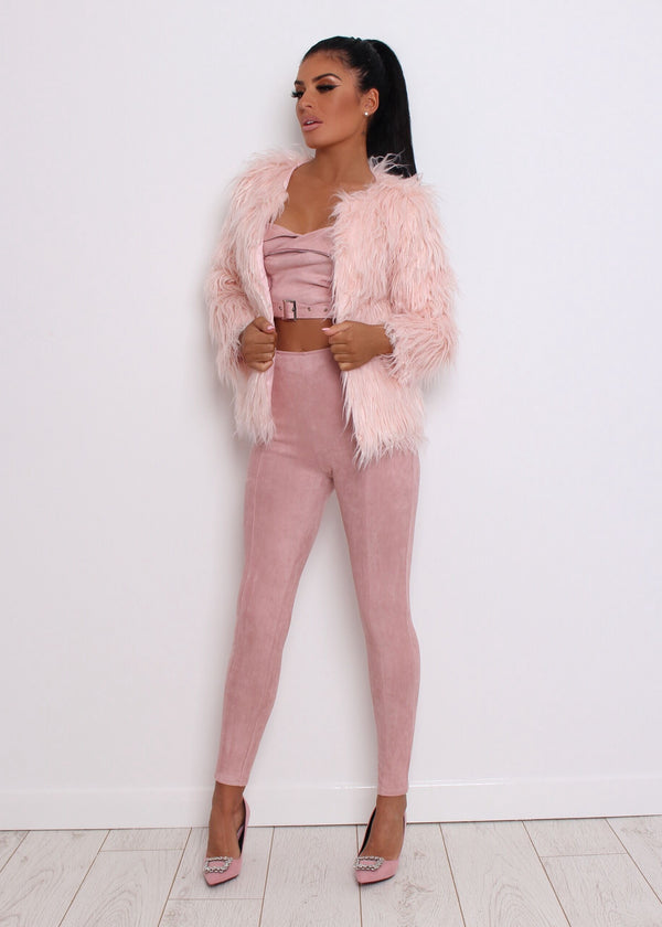 'Are You Fur Real' Faux Fur Coat - Pink