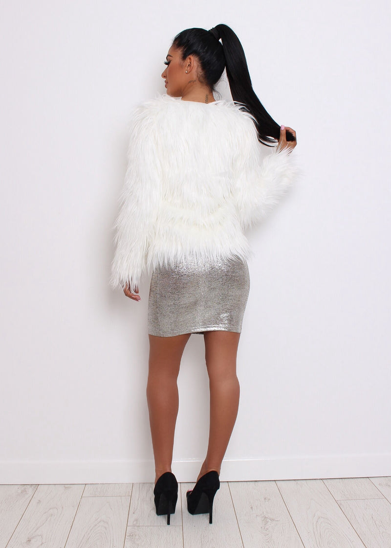 'Are You Fur Real' Faux Fur Coat - White