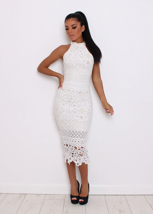 All That Sass Crochet Lace Dress - White