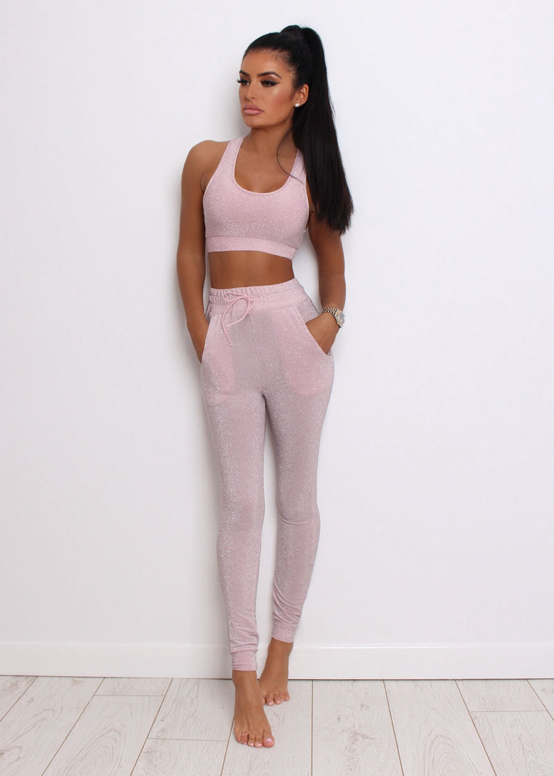 So Dreamy Lurex Two Piece - Pink
