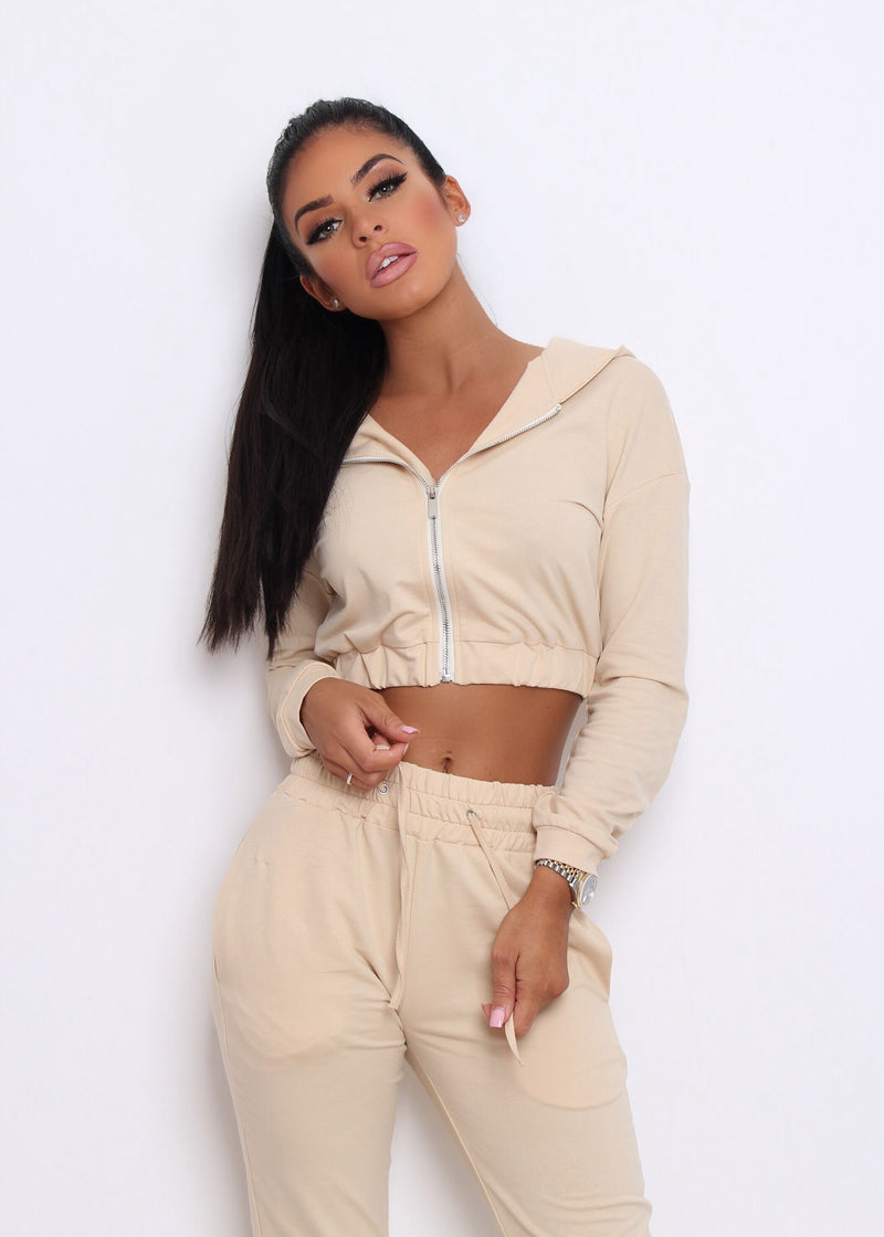 In My Feelings Tracksuit - Nude