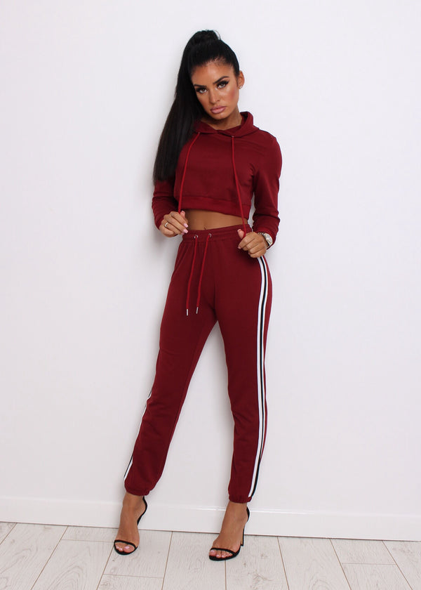 Get Racey Tracksuit - Wine