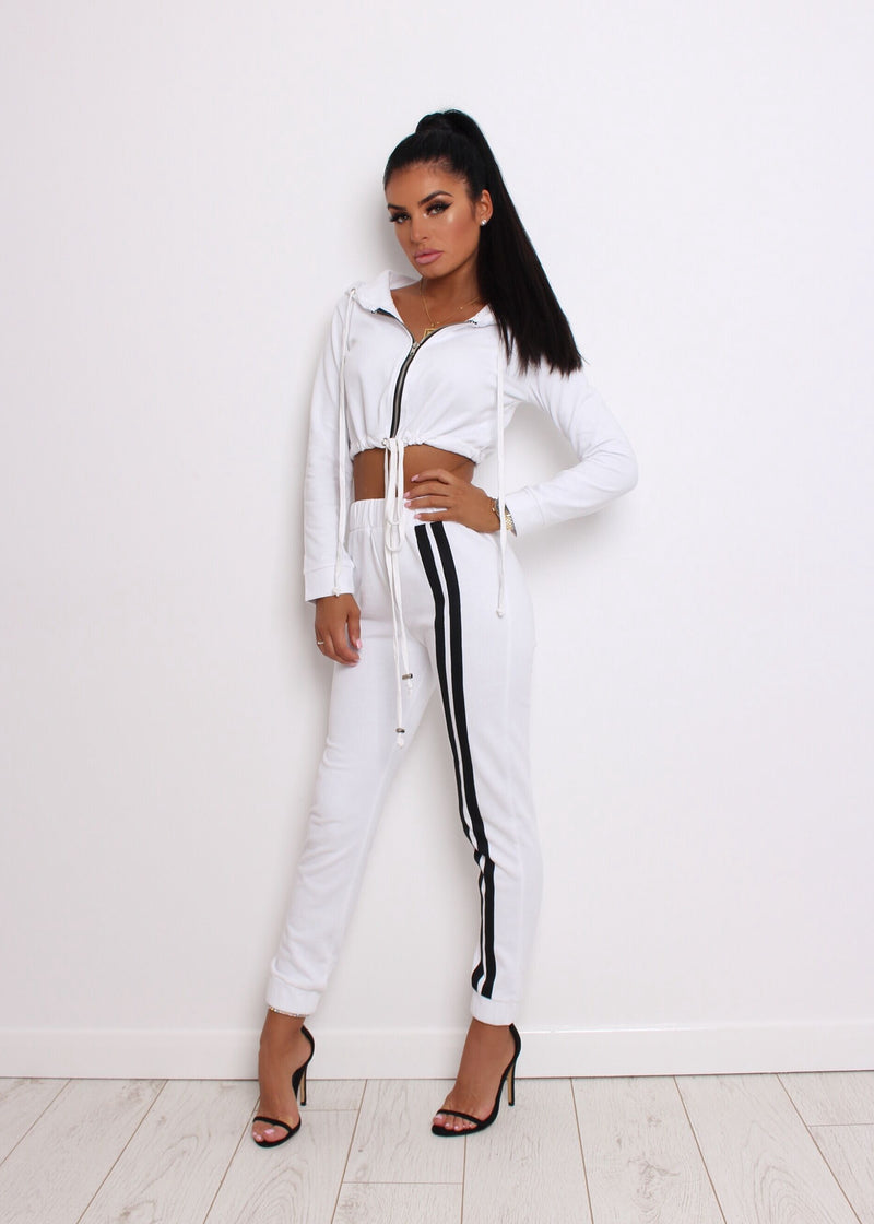Not Holding Back Tracksuit - White