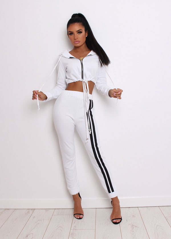 Not Holding Back Tracksuit - White M L