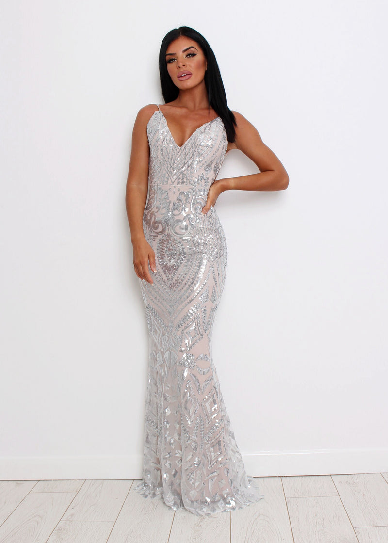 Mayfair Sequin Gown - Silver
