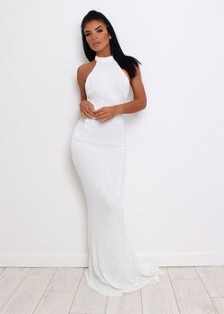 'Sequin Queen' Gown - White