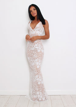 Be The One Sequin Mesh Gown