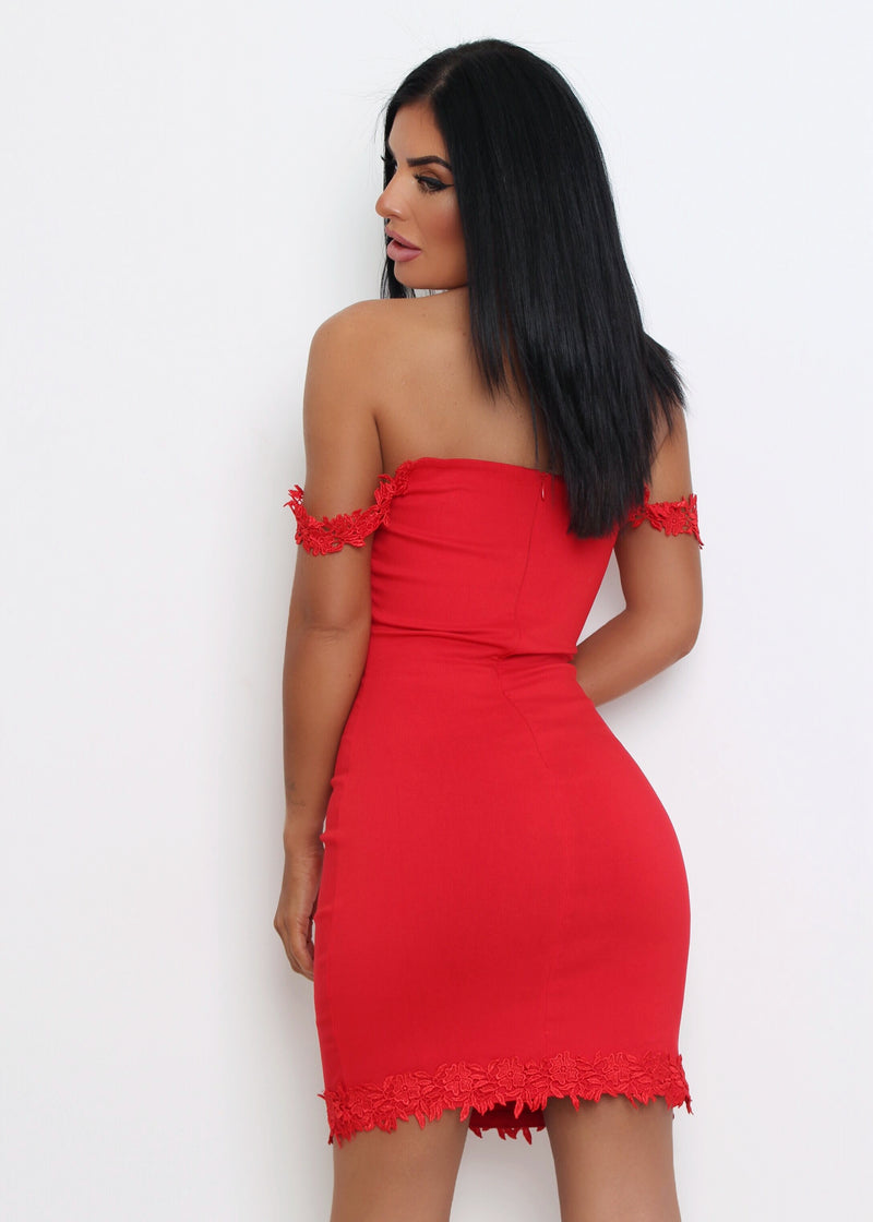 Love Made Me Do It Bodycon Dress - Red
