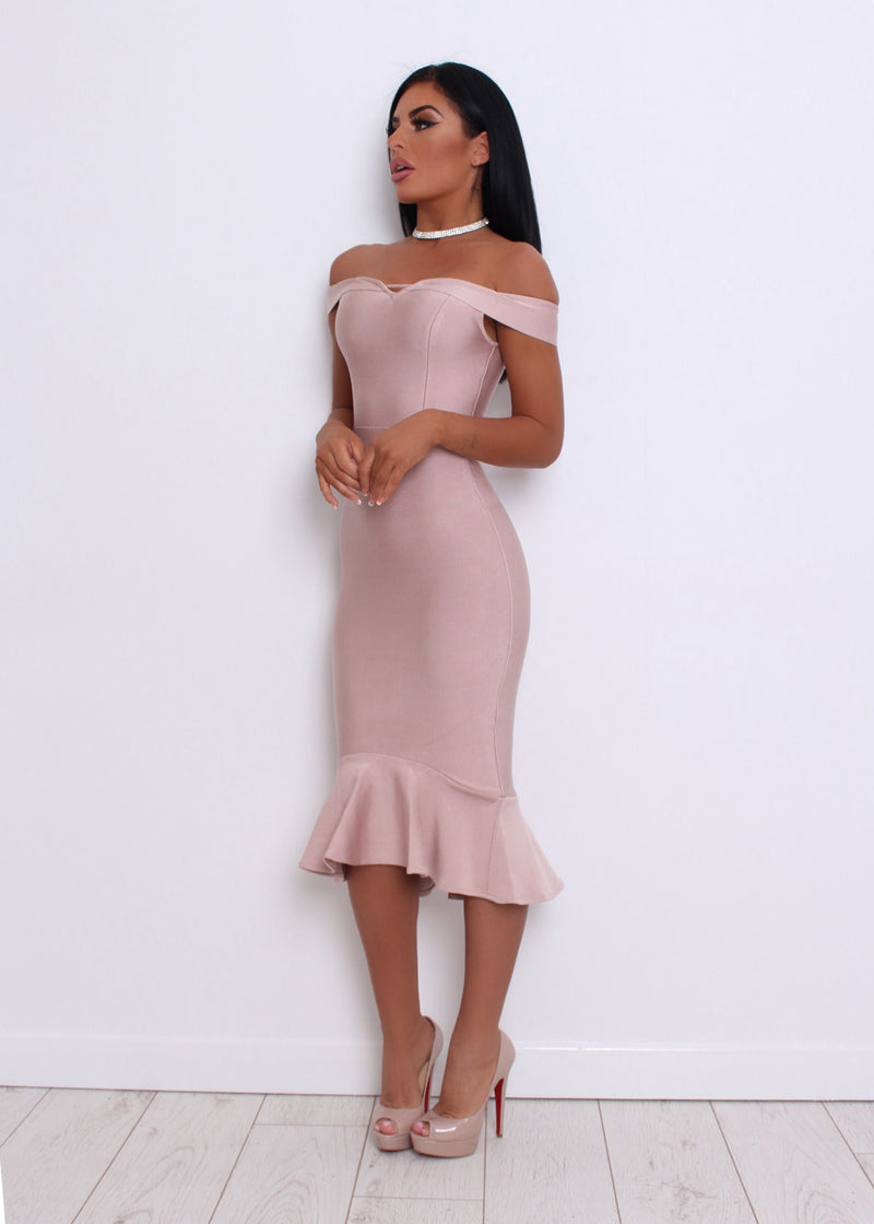 'One Kiss' Bandage Dress - Blush