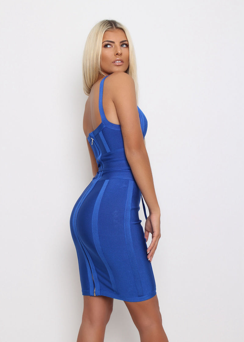 VIP Lounge Bandage Dress  - Cobalt Blue