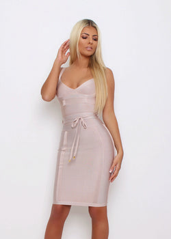 VIP Lounge Bandage Dress  - Nude