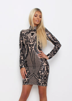 'Stargazing' Sequin Dress - Black