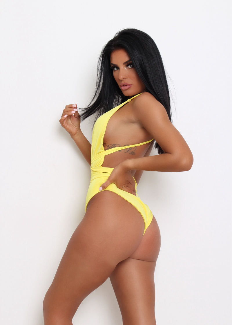 Paige Multiway swimsuit - Yellow
