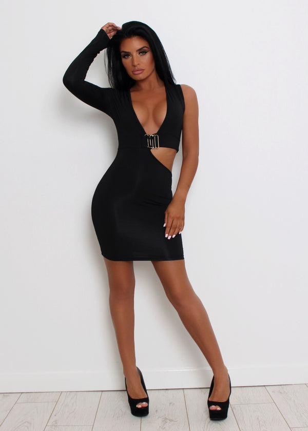 Low Key Cut Out Dress - Black