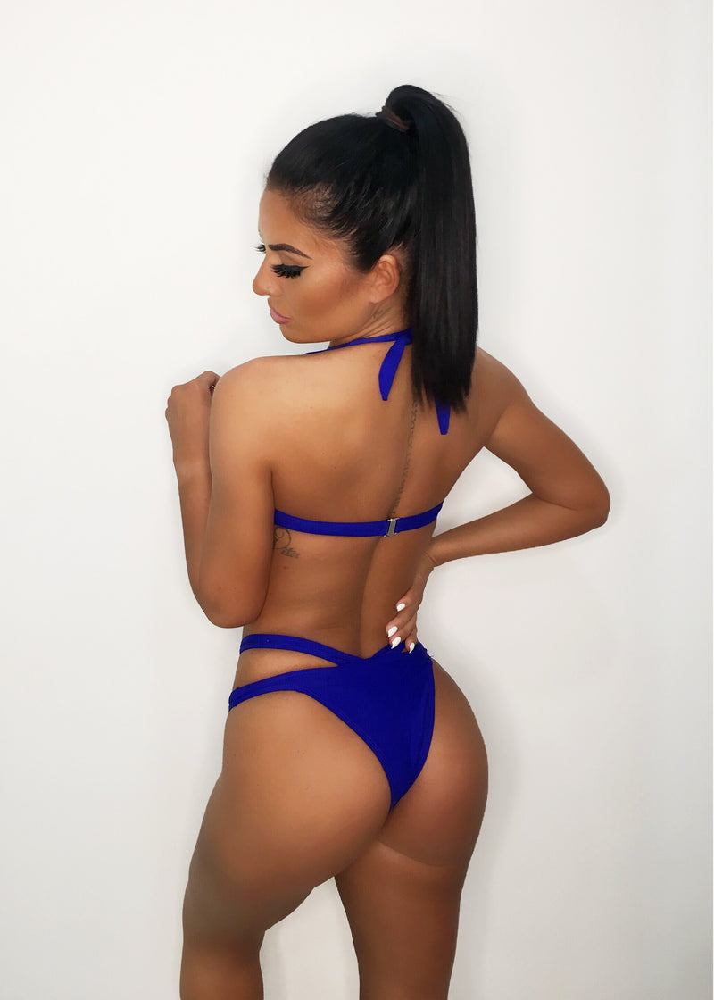 'By My Side' Bikini Set - Cobalt Blue