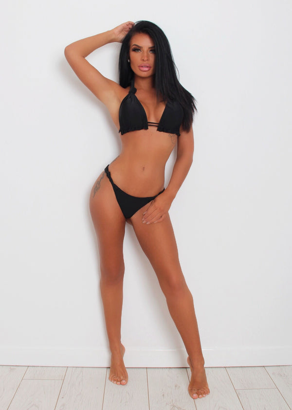'Knot Over You' Slinky Bikini - Black S