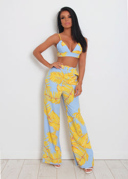 Cabana Two Piece - Yellow & Blue