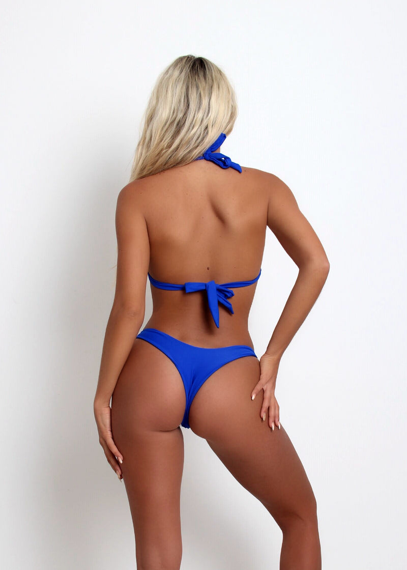 Sugar Rush Jewelled Wired Bikini - Cobalt Blue