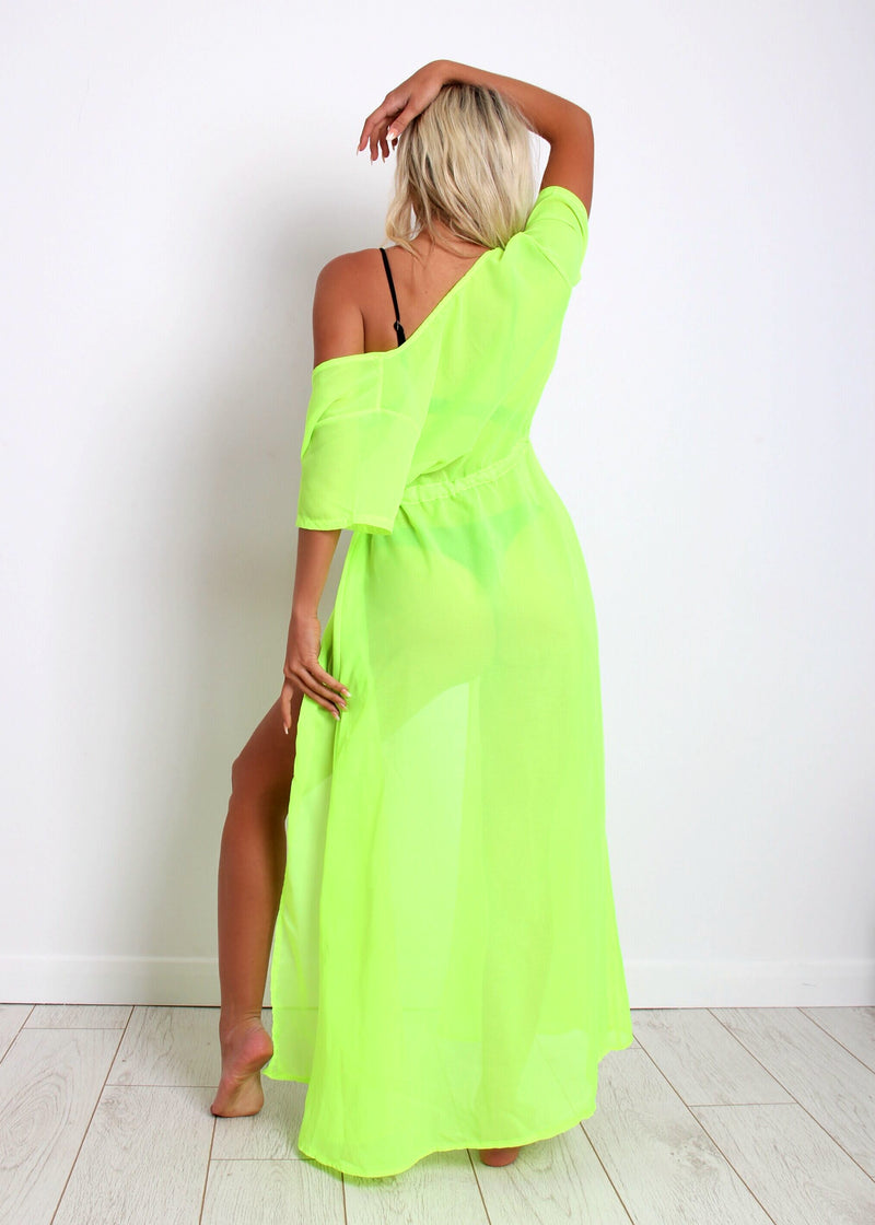Lime Light Kaftan - Neon Green