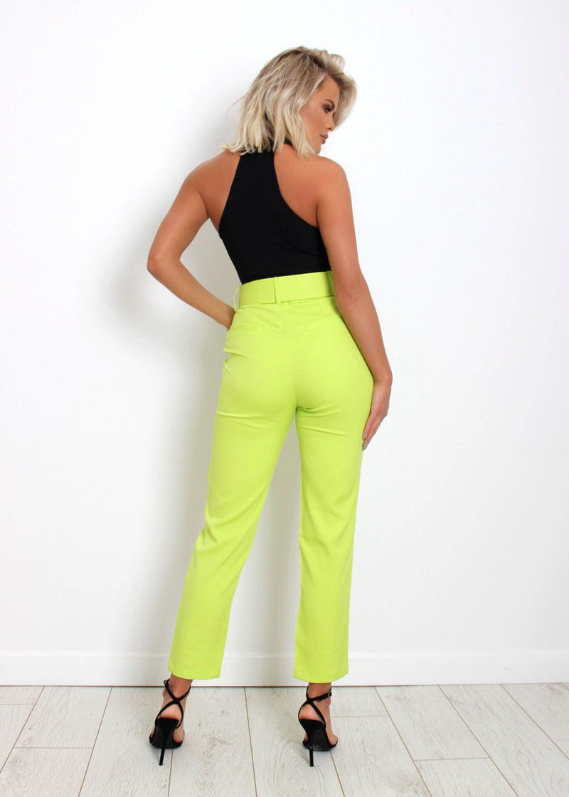 Sweet Dreamer Trousers - Neon Green