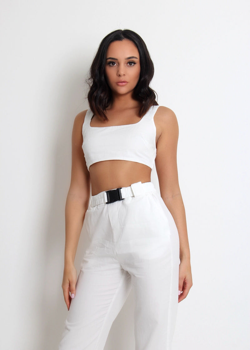 Off The Record Two Piece - White