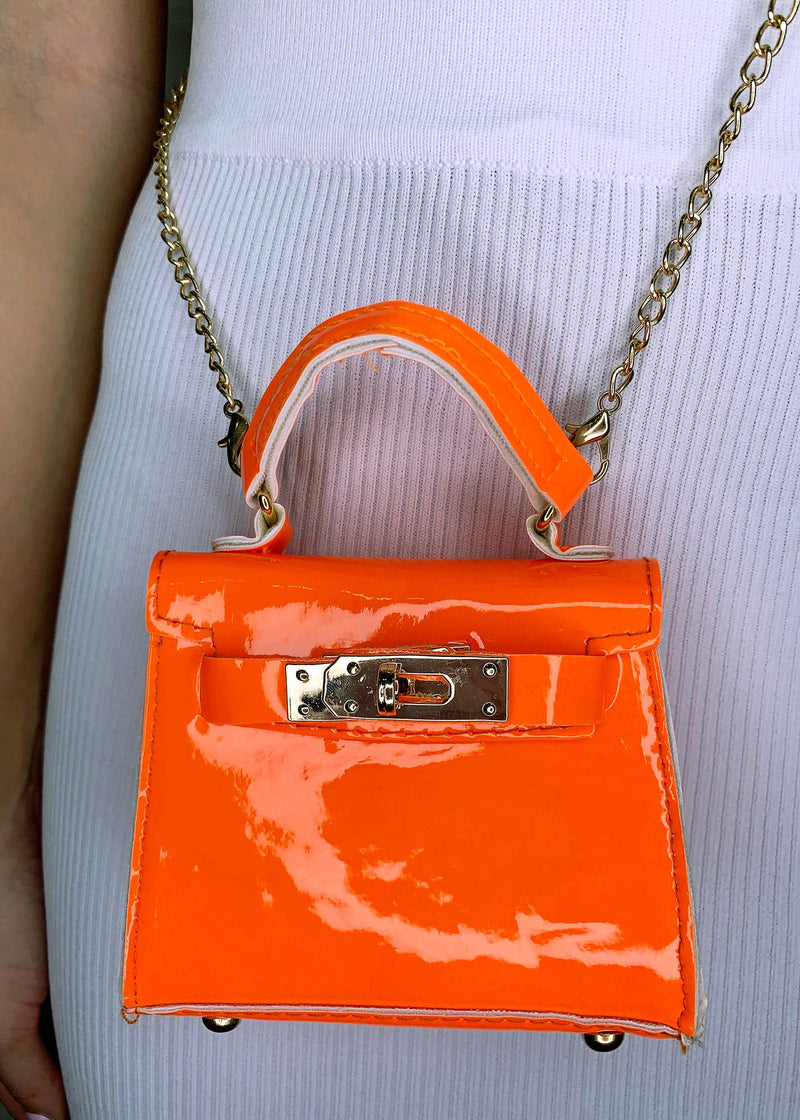 Izzy Mini Chain Bag - Orange