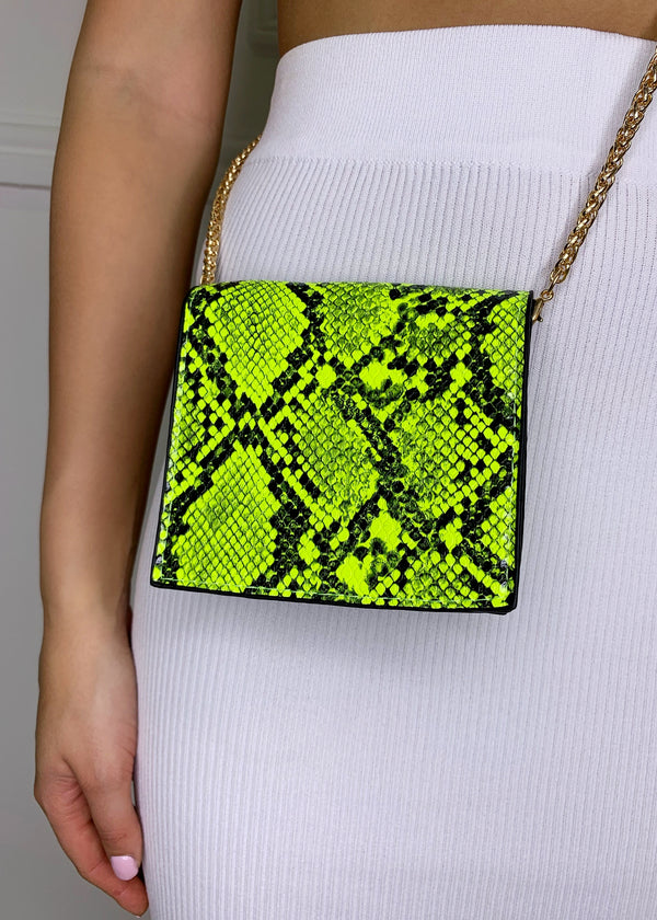 Marley Mini Chain Bag - Snake Print