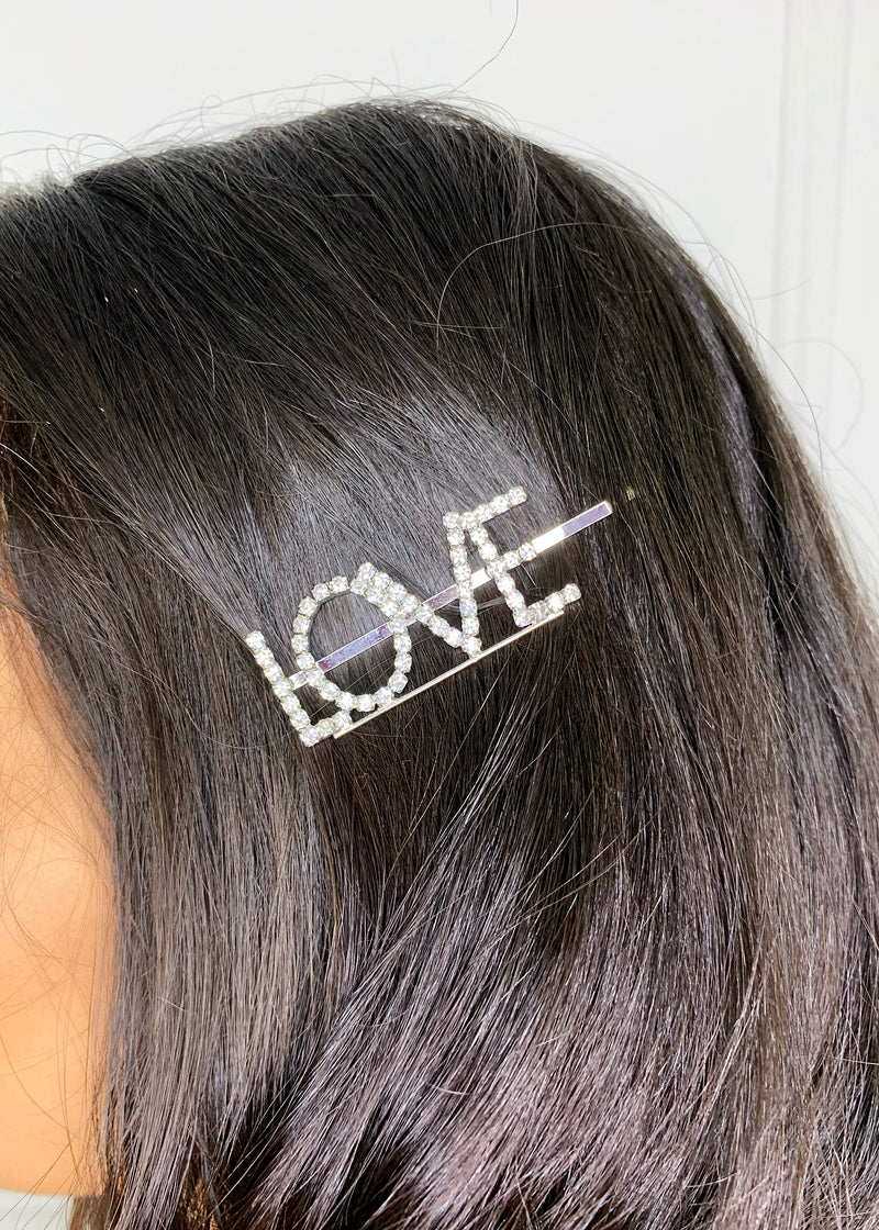 LOVE Crystal Hair Pin
