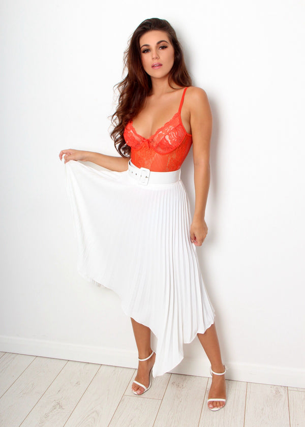 Pleated To Meet You Skirt - White
