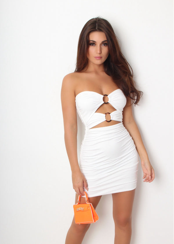 Ring Me Up Bodycon Dress - White