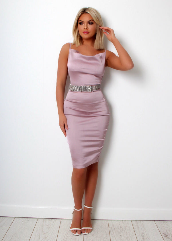 Rock The Runway Cowl Neck Dress – Mauve