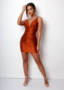 Glow Getter Bodycon - Bronze