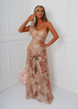 Upper East Side Glitter Gown - Gold