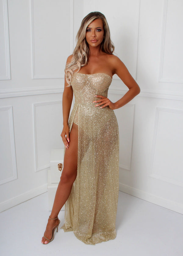High Class Glitter Gown - Gold