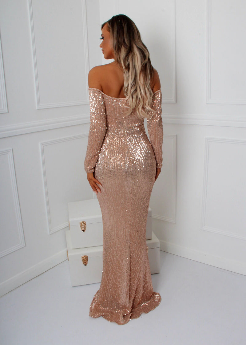 'High Society' Gown - Rose Gold