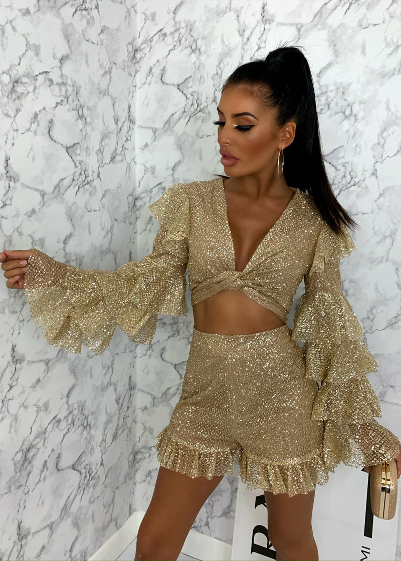 Shimmer Queen Two Piece - Gold