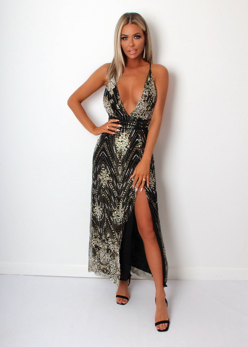 'Dusk Till Dawn' Glitter Maxi Dress