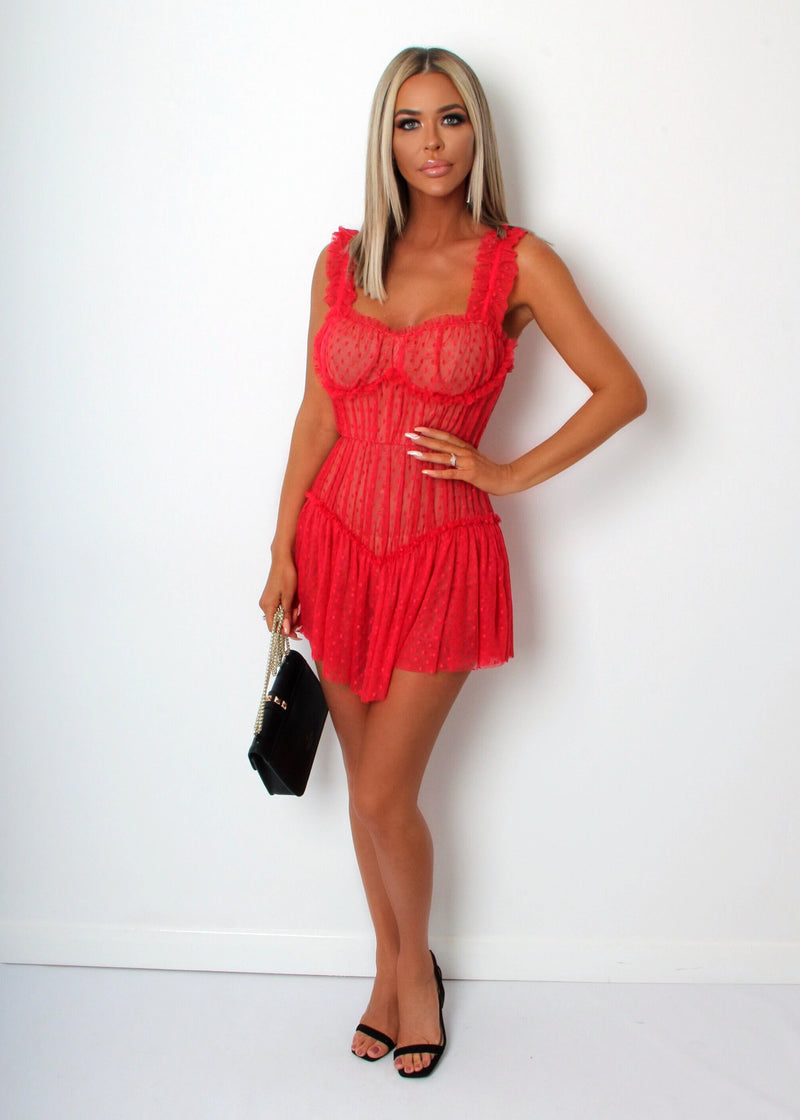 Dirty Dancing Lace Dress - Red