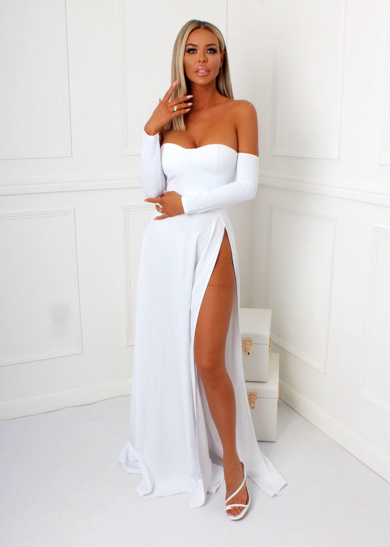 Ruby Bustier Dress - White