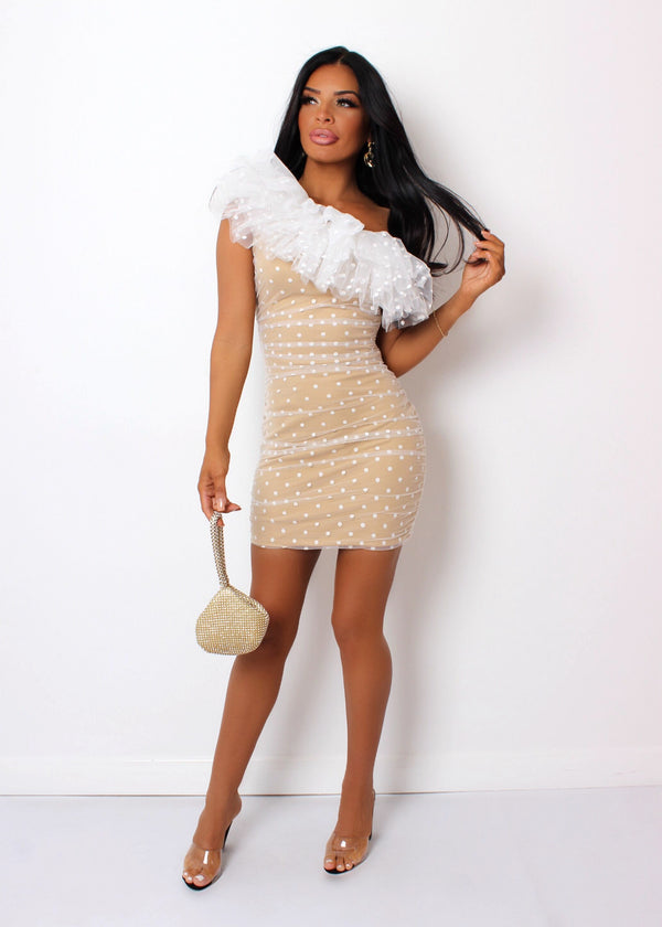 Sweet Emotions Ruffle Dress - White