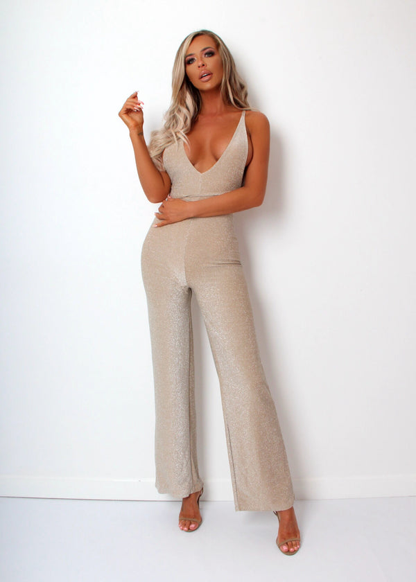New Direction Lurex Jumpsuit - Silver