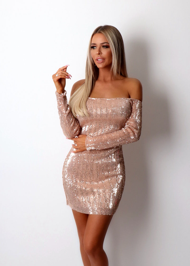 Starlet Stretchy Sequin Dress