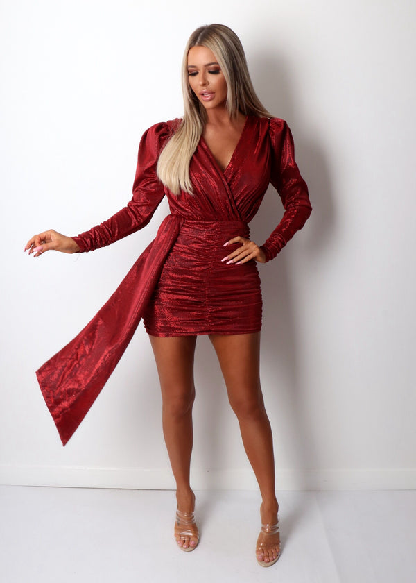 GIA Drape Dress - Red