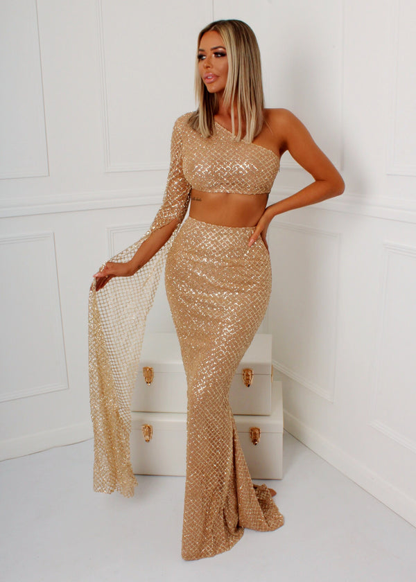 Always Shining Glitter Mesh Two Piece
