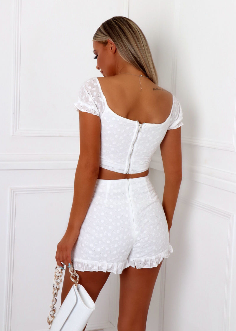 Perfect Match Embroidered Two Piece - White