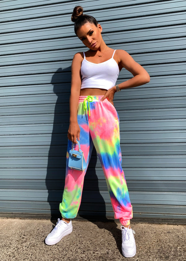 Wear The Rainbow Tie Dye Joggers