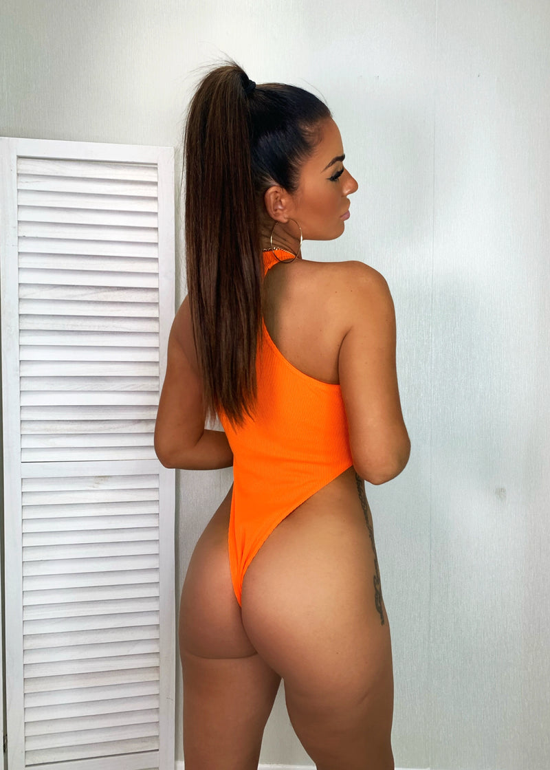 High Standards High Rise Bodysuit - Orange