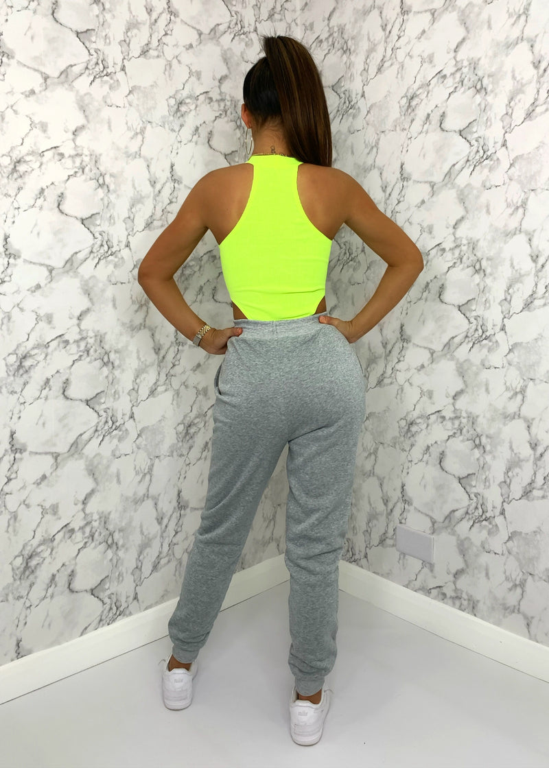 Candy Floss Cuffed Joggers - Grey